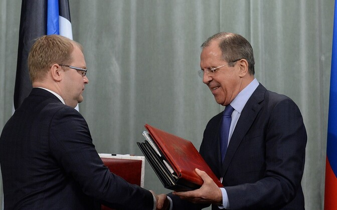 Paet ja Lavrov sõlmisid piirilepingu.