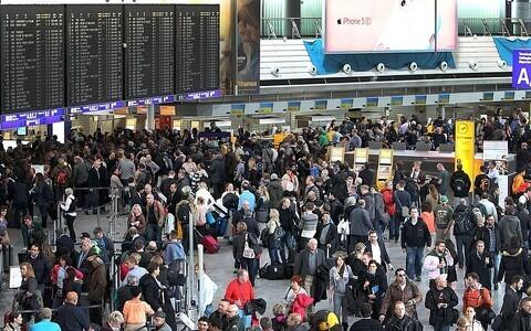 Аэропорт во Франкфурте.