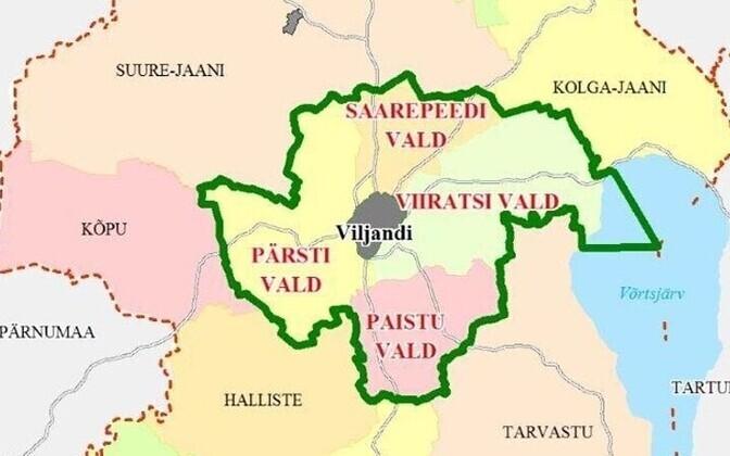 Viiratsi, Saarepeedi, Paistu ja Pärsti vallad ühinesid juba mõne aja eest vabatahtlikult üheks Viljandi vallaks.