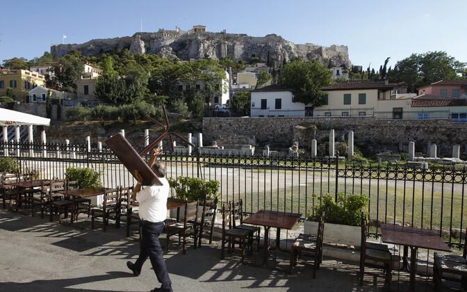 Plaka linnaosa ja vaade Akropolisele