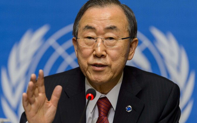 ÜRO peasekretär Ban Ki-moon.