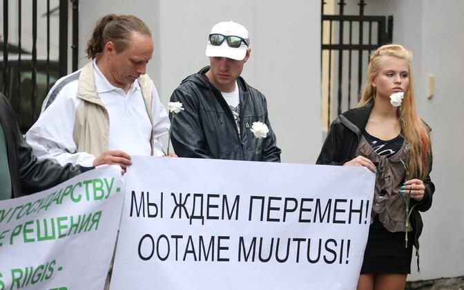 Miiting venekeelse hariduse kaitseks Toompeal 2013. aasta mais.