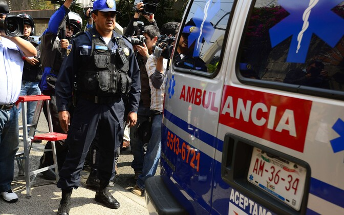 Mehhiko politsei ja kiirabi. Foto on illustreeriv.