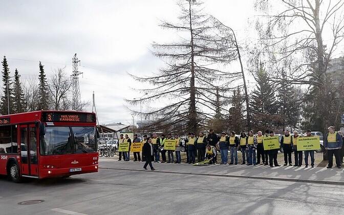 Bussijuhtide streik 2014. aastal.