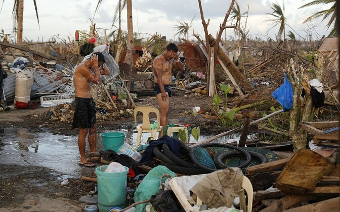 Kliimamuutused toovad üha enam kaasa suuri katastroofe. Pilt 2013. aasta lõpul Haitil möllanud orkaanist.