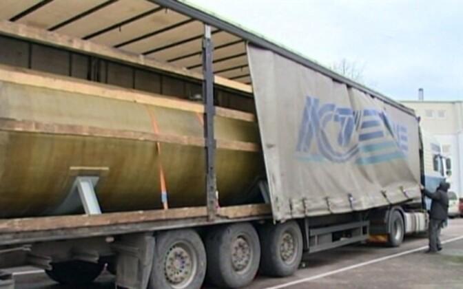 A contraband fuel tank