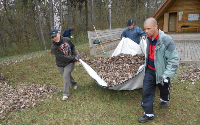 Talgupäev Salutalguse külaplatsil Koeru vallas Järvamaal.