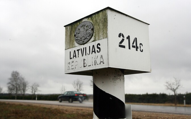 Latvian border marker on the Latvian-Estonian border in Valga County. Photo is illustrative.