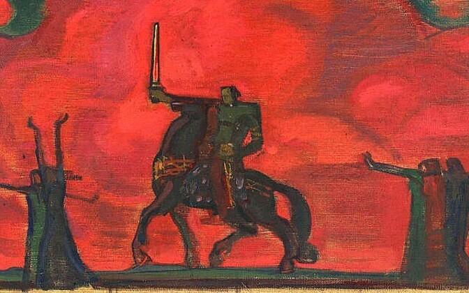Nikolai Triik, Sõttaminek. 1909 Õli, lõuend.