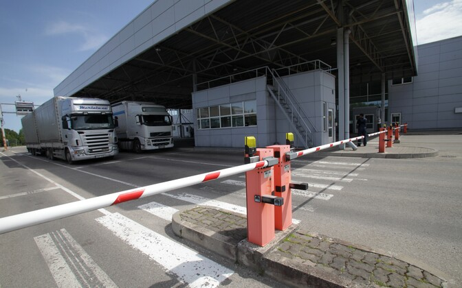 Luhamaa border checkpoint in Southeastern Estonia.