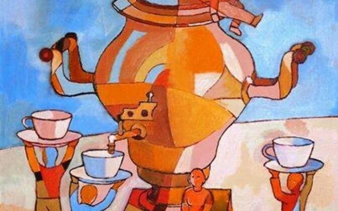 Detail Valery Sakovi maalist