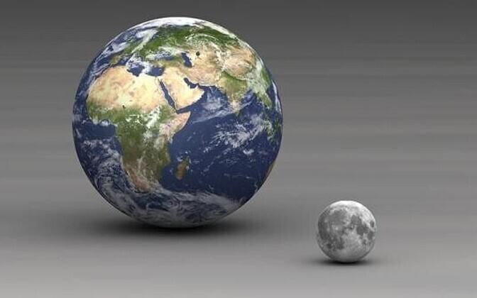 Maa ja Kuu osutusid 60 miljonit aastat vanemaks