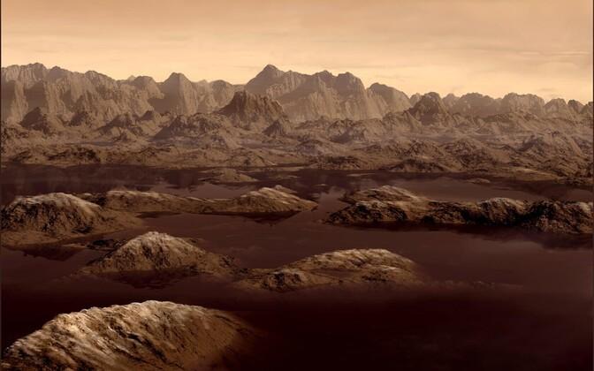Kunstniku nägemus Titani pinnast.