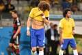 Brazil defender David Luiz (center) reacts after the seventh German goal.