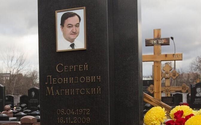 Sergei Magnitski hauakivi Moskva kalmistul