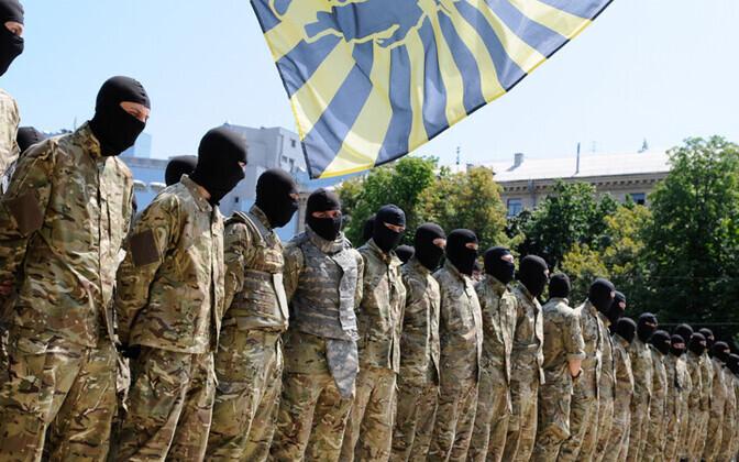 Pataljoni Azov võitlejad Kiievis