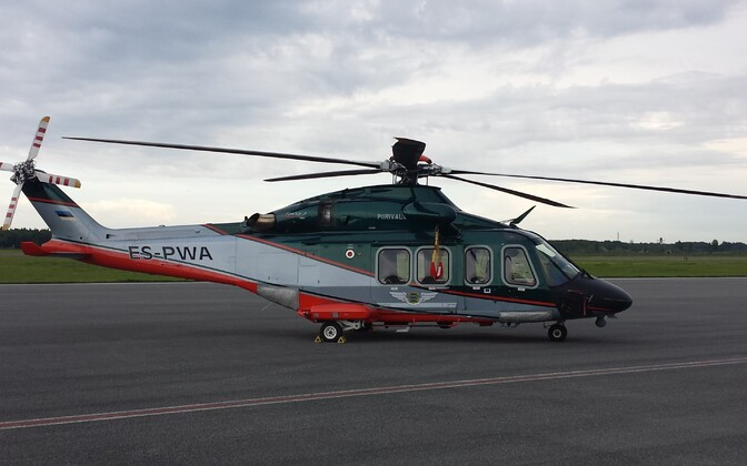 Estonian border guard AW-139 helicopter