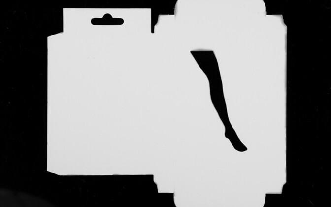 Nimeta fotogramm #3, 2014. Mustvalge fotopaber, 25x35cm