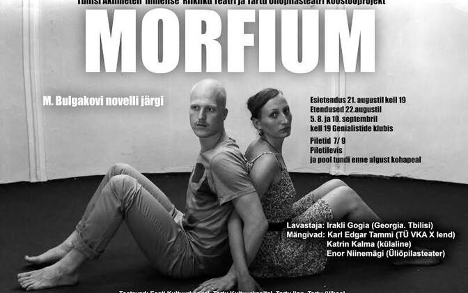 """Gogia lavastab üliõpilasteatris M. Bulgakovi novelli """"Morfium"""""""