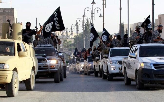 Terrorirühmituse Islamiriik võitlejad.