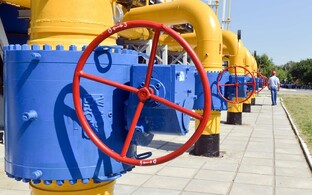 Natural gas pipes. Photo is illustrative.