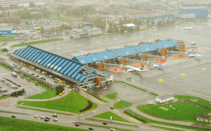 Aerofoto Tallinna lennujaamast.