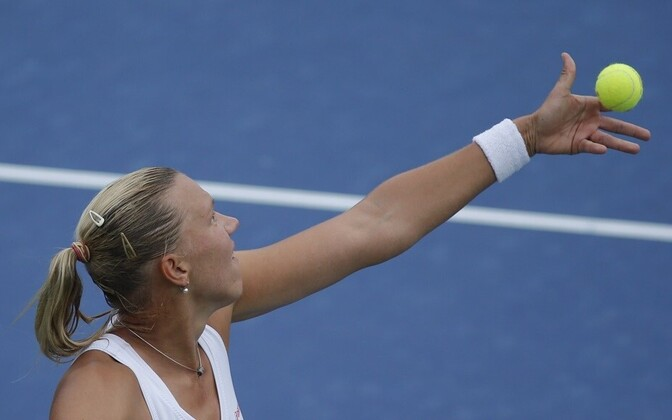 Kaia Kanepi, a winner over Carla Suarez Navarro of Spain on Saturday, will face Serena Williams today in the US Open.