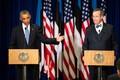 Presidendid Barack Obama ja Toomas Hendrik Ilves ühisel pressikonverentsil Tallinnas.