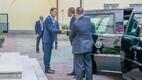 Peaminister Taavi Rõivas ja president Barack Obama Stenbocki maja ees