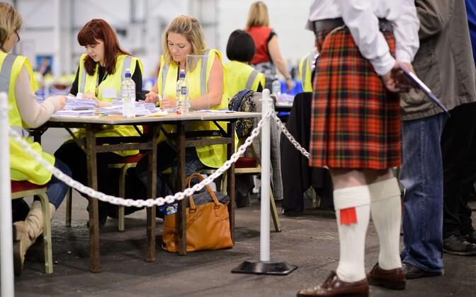 Häältelugemine Šoti referendumil