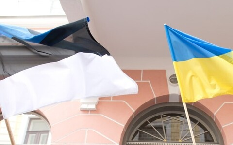 Estonian and Ukrainian flags (picture is illustrative).