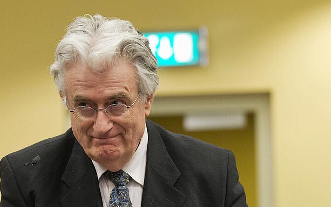 Radovan Karadžić 11. juulil 2013 endise Jugoslaavia sõjakuritegude tribunali istungil
