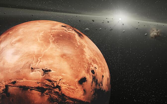 Kunstniku nägemus Marsist ja asteroidivööst.