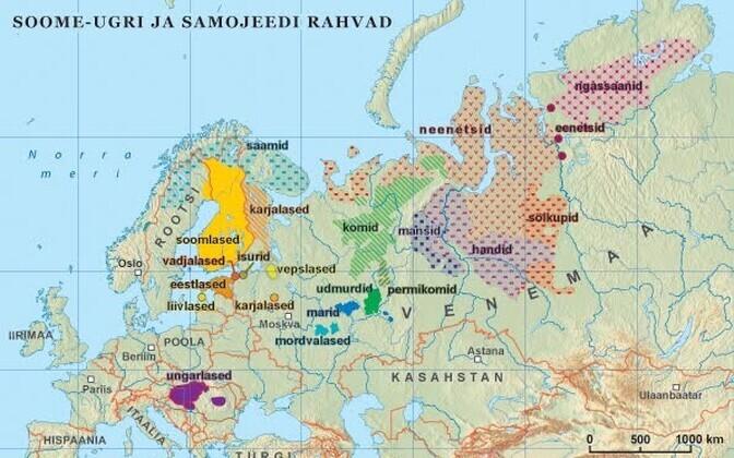 Soome-ugri rahvad kaardil