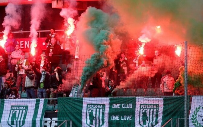 FC Flora (fans pictured) lost to FC Levadia, who is set to reclaim the football league title