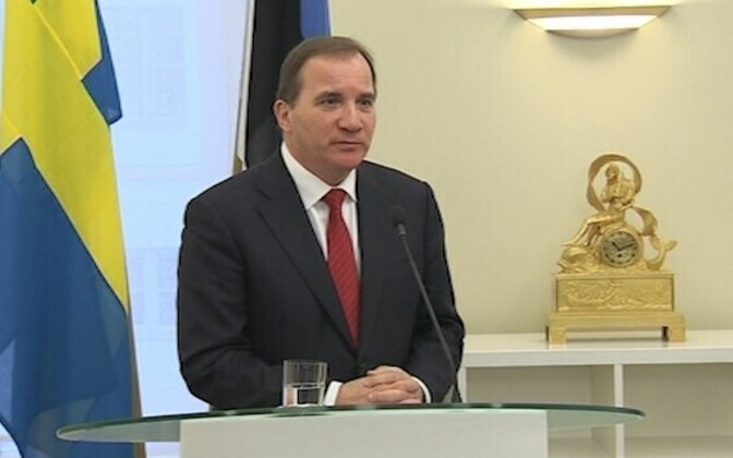 Swedish PM Stefan Löfven arrived in Tallinn with the two nations experiencing similar security threats recently
