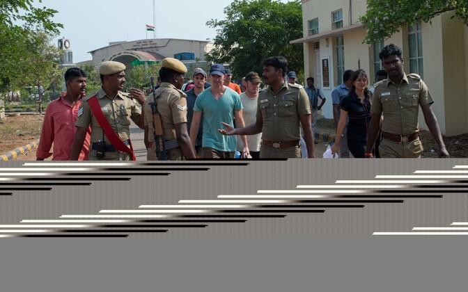 Судовые охранники в Индии.