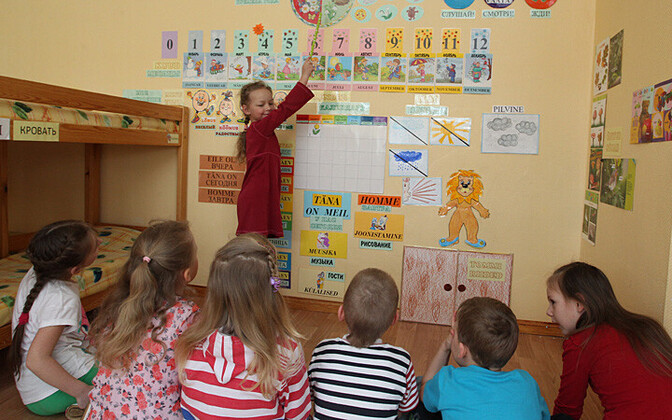 A language immersion group in Tartu's Kelluke Kindergarten.