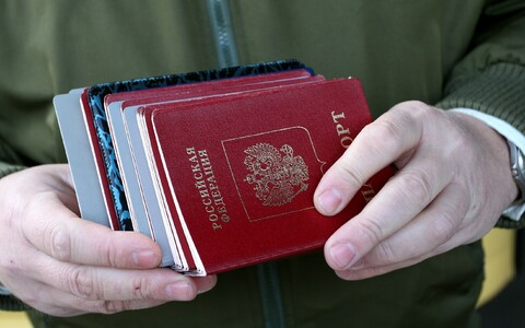 Russian passports. Photo is illustrative.