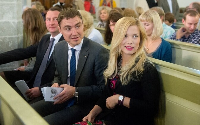 The youth and energy of Prime Minister Taavi Rõivas, pictured with his partner, Luisa Värk, an Estonian pop star, is part of the Reform Party's campaign message.