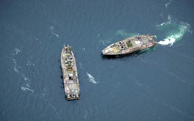 Rootsi sõjalaevad Stockholmi saarestikus