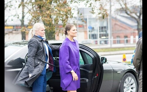 Crown Princess Victoria (right) during her last visit to Estonia in 2014.