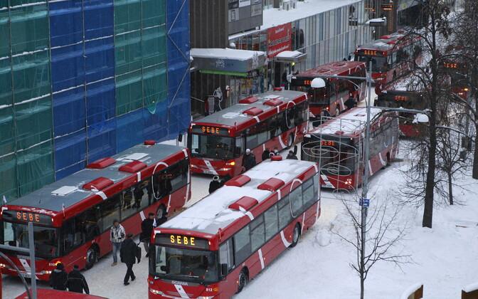 Buses in Tartu.