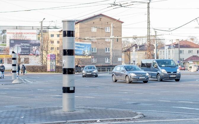 Liikluskaamera Kristiine ristmikul.