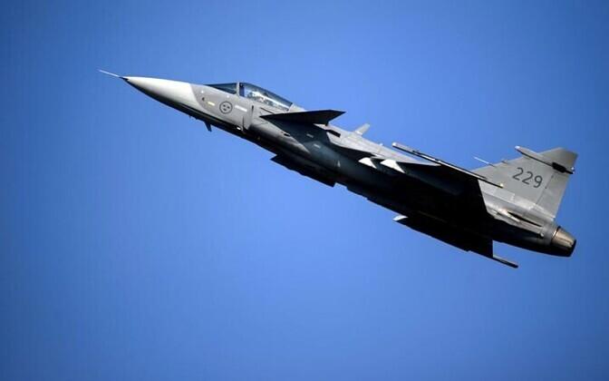 Rootsi õhujõudude hävitaja Jas 39 Gripen