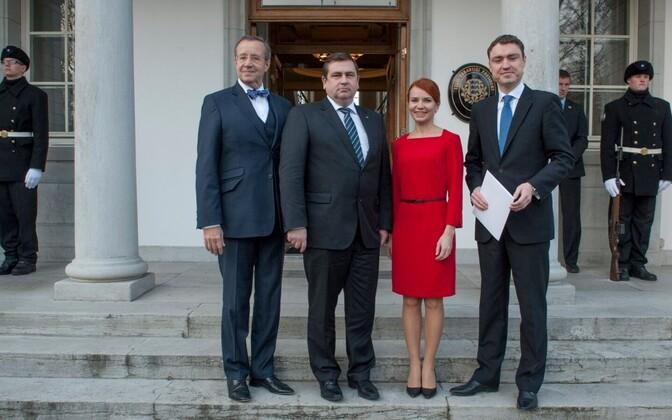 From left: President Toomas Hendrik Ilves, Mati Raidma, Keit Pentus-Rosimannus, PM Taavi Rõivas