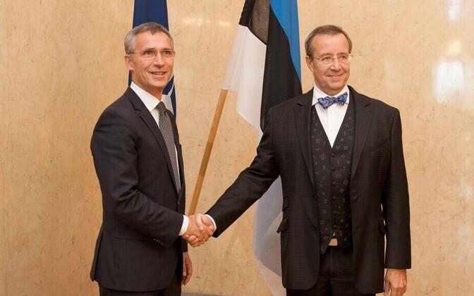 Jens Stoltenberg meeting Estonian President Toomas Hendrik Ilves