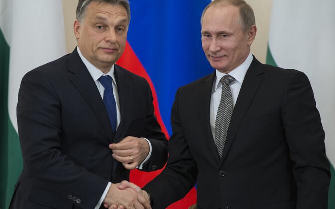 Ungari peaminister Viktor Orban ja Venemaa president Vladimir Putin.