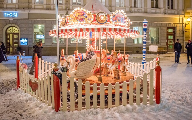 Christmas market in Tallinn.