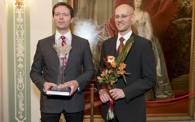 Markus Järvi ja Varro Vooglaid sihtasutusest Perekonna ja Traditsiooni Kaitseks